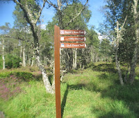 Sign post at start of Little Ord Trail