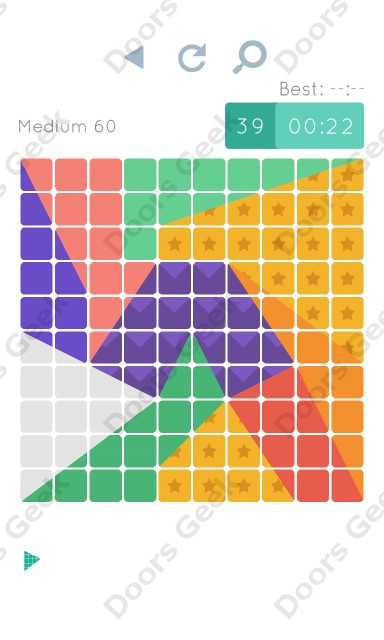 Cheats, Walkthrough for Blocks and Shapes Medium Level 60