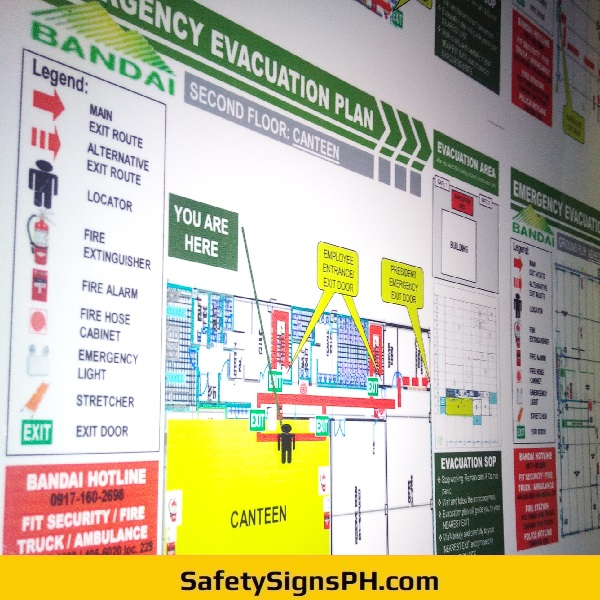 Emergency Evacuation Plans - Bandai Philippines