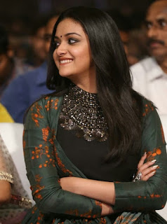 Keerthy Suresh in Black Dress with Cute Smile