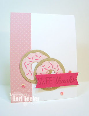 Sweet Thanks card-designed by Lori Tecler/Inking Aloud-stamps and dies from Reverse Confetti