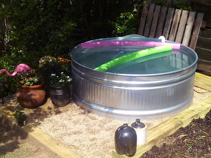 Let 39 s add sprinkles the watering hole our stock tank pool - How to filter a stock tank swimming pool ...
