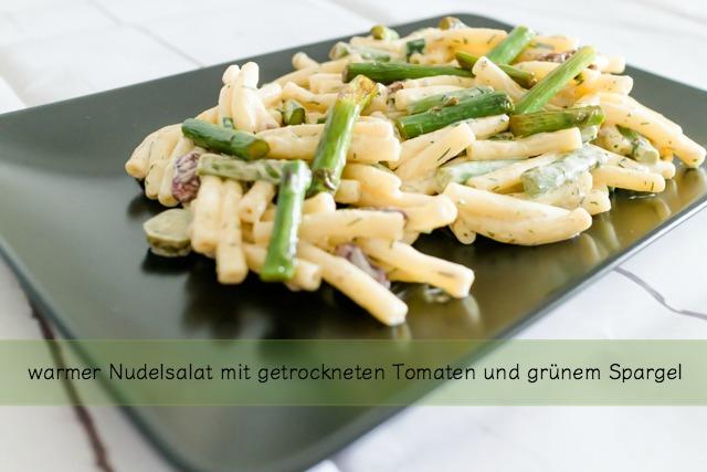 vegan, vegetarisch, nudelsalat, grillsaison, spargelzeit, grüner spargel, rezept, foodblog
