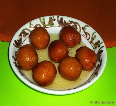 gulab jamun ready to serve