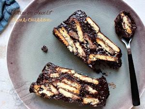 Gâteau au chocolat sans cuisson { facile et rapide ! }