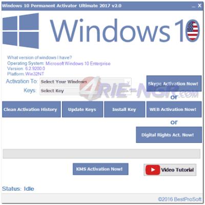 Windows 10 Permanent Activator Ultimate 2.0 Terbaru