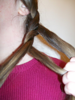 1850s/1880s cable plait in progress