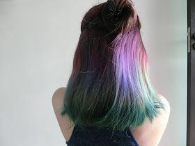 Green purple hair