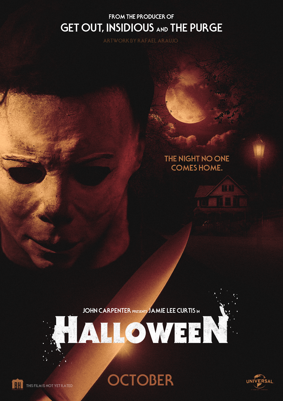 The Horrors of Halloween: HALLOWEEN (2018) Fan Artwork Posters