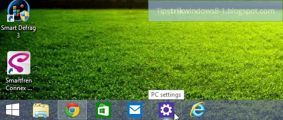 pc settings di taskbar
