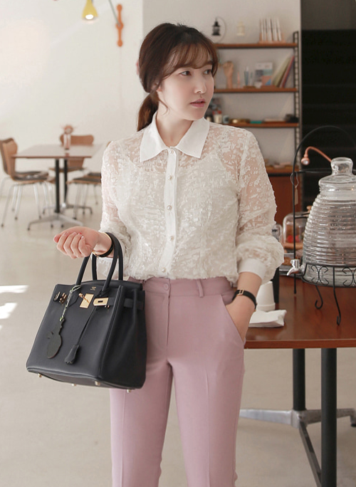 Textured Sheer Blouse
