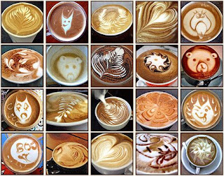 creative shapes that can be created on coffee drinks