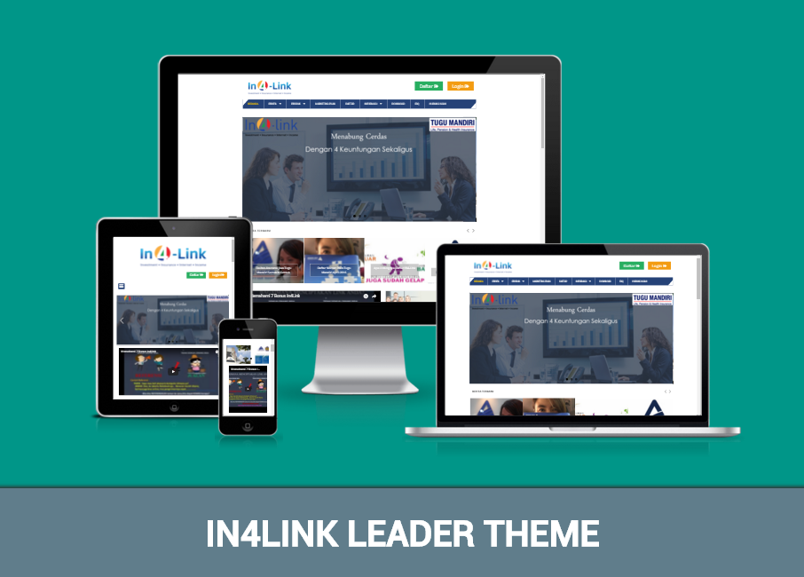 Download IN4LINK Leader Theme Responsive Blogger Template
