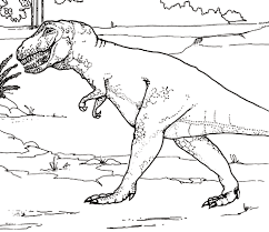 Printable Tyrannosaurus Coloring Pages
