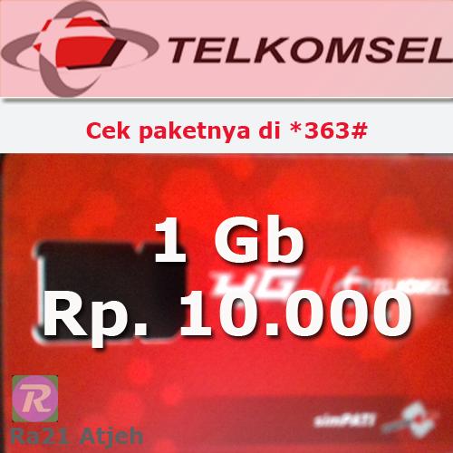 Cara Membeli Paket 10 Ribu 1 Gb Kartu As Telkomsel