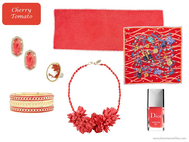 Cherry Tomato accessories from Pantone Spring 2018 colors