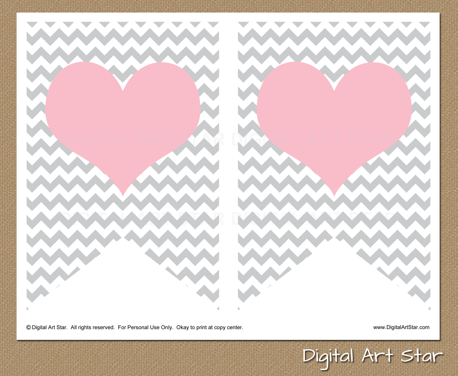 Digital art star printable party decor diy printable it for Baby shower decoration templates
