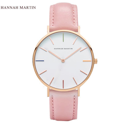Hannah Martin ladies pink wrist watch