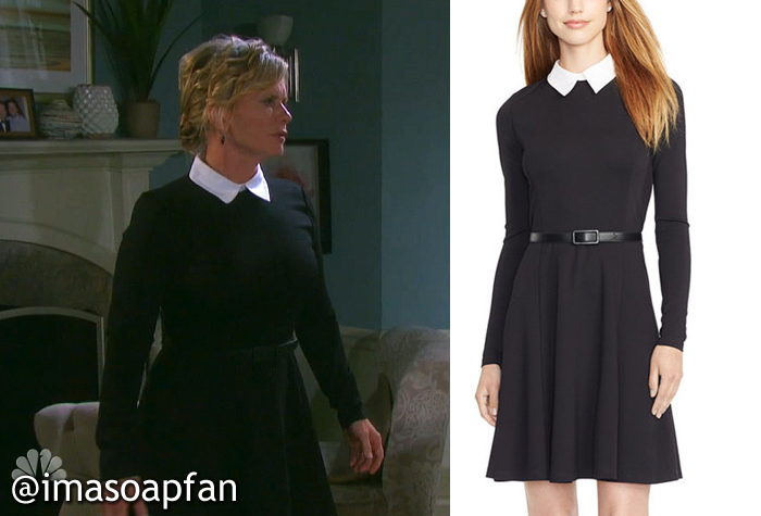 Kayla Brady S Black Dress With White Collar See More Lauren Ralph Clothing