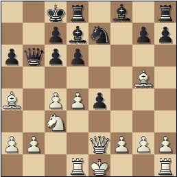 Partida de ajedrez Torán - Fuentes, posición después de 12...O-O-O