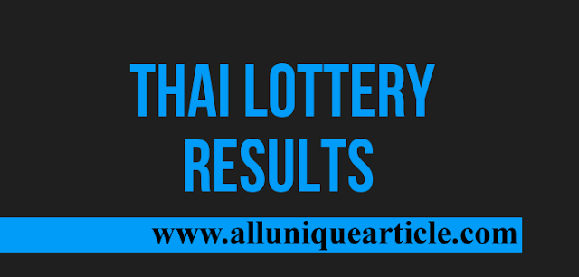 Thai lottery draw result published