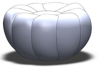 Calabaza deformada por la herramienta de forma libre con solidworks