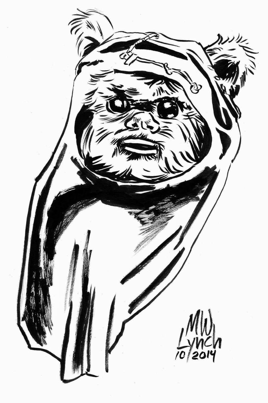 ewok coloring page - wicket coloring page coloring pages