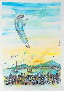 https://www.latelierdannapia.com/ chagall gênes genova Annapia Sogliani artiste peintre pittrice painter artist Scuola Internazionale di illustrazione di Sarmede