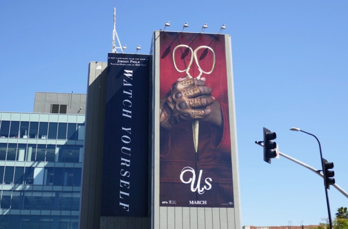Giant Us movie billboard