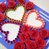 Paper Quilling Art  : 3 Heart Shaped  Greeting Card