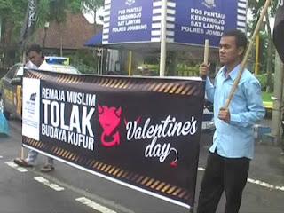 Anggap Bukan Budaya Islami, Remaja Muslim Gelar Aksi Tolak Valentine Day
