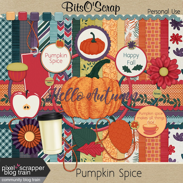 Pixel Scrapper October 2017 Blog Train - Pumpkin Spice