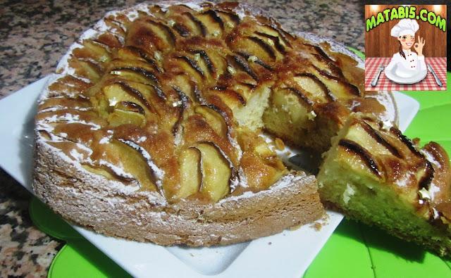 طريقة تحضير تورتة التفاح