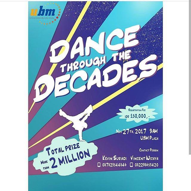 Lomba Dance Competition Untuk Umum | Univ. Bunda Mulia | Deadline Sampai 18 November 2017