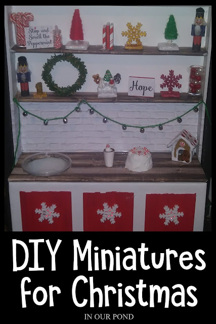 Elf House in a Suitcase // DIY Mini Christmas Decorations for Dolls and Elves // In Our Pond // 1:6 scale // Barbie dollhouse // Doll Crafting