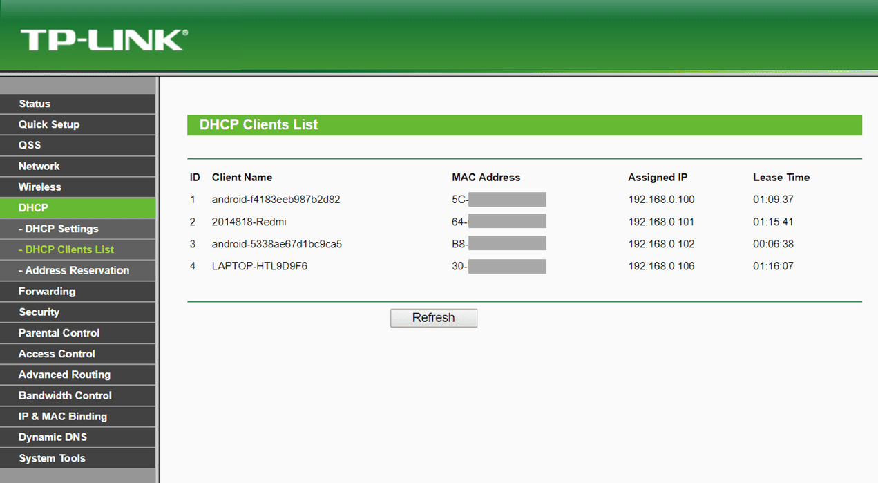 check your ip from router