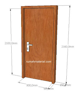 Contoh Pintu Kayu Single Swing