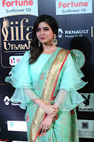 Samantha Ruth Prabhu Smiling Beauty in strange Designer Saree at IIFA Utsavam Awards 2017  Day 2  Exclusive 28.JPG