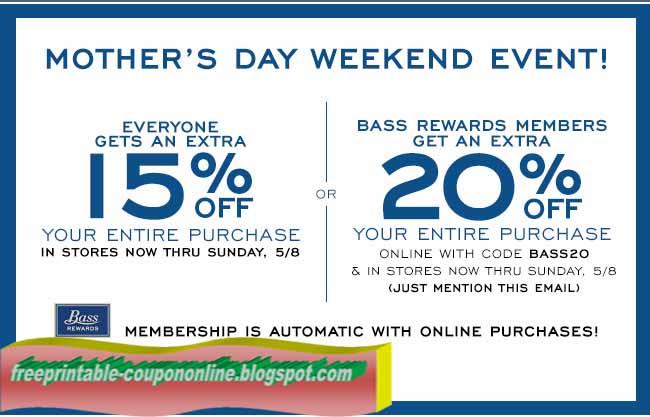 Bass shoes coupons printable 2018