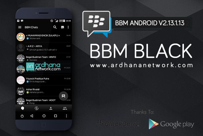 BBM Black V2.13.1.13 - BBM MOD Android V2.13.1.13