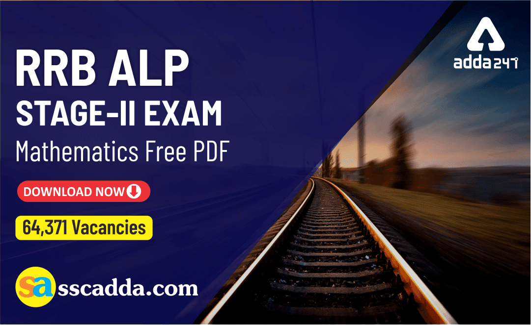 RRB ALP CBT 2 Maths Study Material PDF