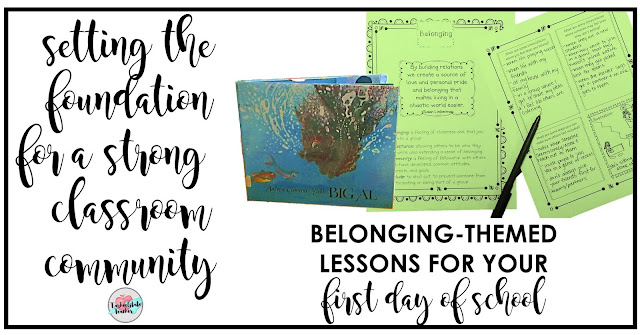 FREE MORNING MEETING LESSON IDEAS--Complete morning meeting lesson plan for Creating a Sense of Belonging in Your Classroom Community   Looking for ideas for back to school? This first day of school lesson plan includes a fun community building read aloud, discussion questions, and student journal pages that you can print off for free! Perfect for an introduction to what it means to have a strong classroom community for 3rd grade, 4th grade, and 5th grade classrooms!