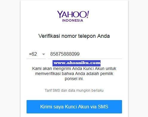 Verifikasi Nomor Telepon Anda