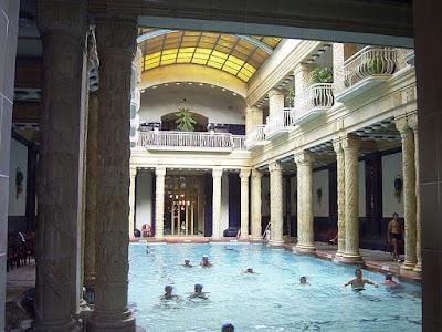 Inside the Gellert Baths, Budapest