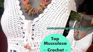 Cómo tejer un Top~Musculosa Crochet