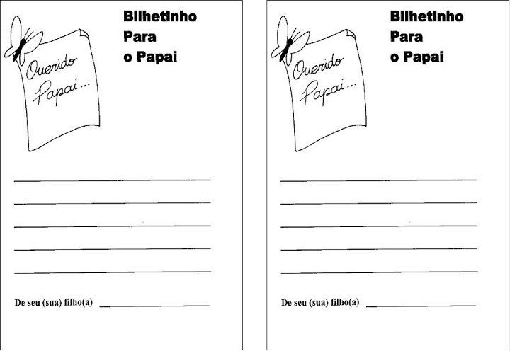 cartões dias dos pais para imprimir