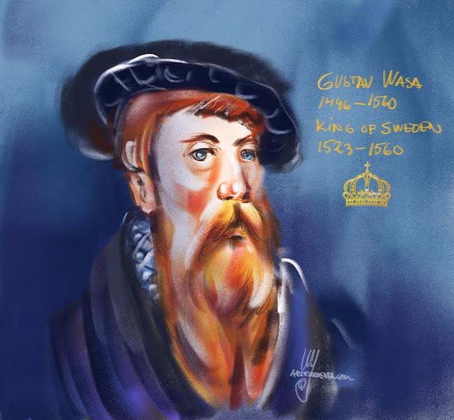 Portrait sketch Gustav Vasa