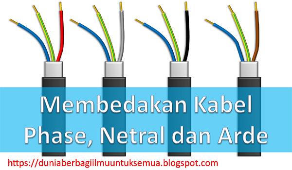 Cara membedakan Kabel Fasa, Netral dan Arde