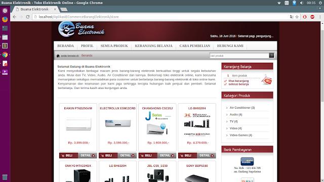 Aplikasi E-Commerce Penjualan Barang Elektronik Dengan PHP MySQL