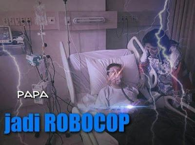 Meme Setya Novanto di Rumah Sakit Papa Jadi Robocop